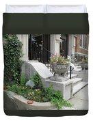 Small Garden In Big City Duvet Cover