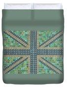 Small Green Flag Duvet Cover