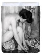 Small Nude Painting By Albert Worcester C. 1910 Duvet Cover