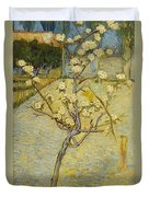 Small Pear Tree In Blossom Duvet Cover