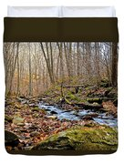 Small Pennsylvania Creek In Autumn Duvet Cover