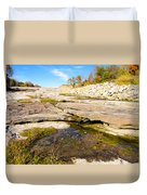 Small Pond Devonian Fossil Gorge Duvet Cover
