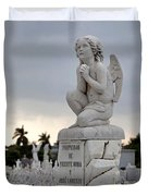 Small Praying Angel Duvet Cover