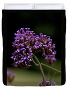 Small Purple Flowers On A Verbena Plant Duvet Cover