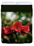 Small Red Flowers Duvet Cover