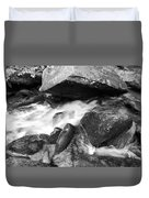 Small Stream Smoky Mountains Bw Duvet Cover