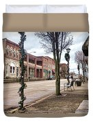 Small Town Christmas Duvet Cover