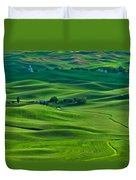 Small Town In The Lush Green Hills Duvet Cover