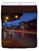 Small Town Ohio Christmas Duvet Cover