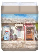 Small Town Pit Stop  Duvet Cover