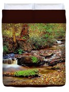 Small Waterfall And Stream 2 Duvet Cover