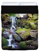 Small Waterfall In Marlay Park Dublin Duvet Cover