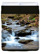 Small Waterfall In Western Pennsylvania Duvet Cover