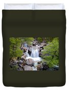 Small Waterfall Near Hwy 120 Roadside In Yosemite Np-ca- 2013 Duvet Cover