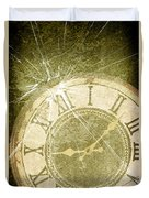 Smashed Clock Face Duvet Cover