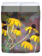 Smell The Flowers Lizard Duvet Cover