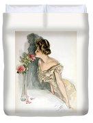 Smelling The Roses Duvet Cover