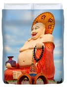 smiling Buddha Duvet Cover by Adrian Evans