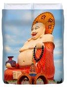 smiling Buddha Duvet Cover