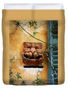 Smiling Cat Mail Box Duvet Cover
