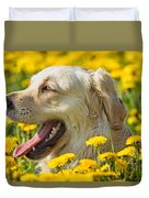 Smiling Dog Duvet Cover