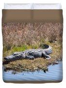 Smiling Gator Duvet Cover