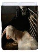 Smiling Goats  Duvet Cover