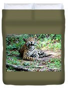 Smiling Jaguar Duvet Cover