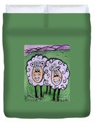 Ewe And Me Smiling  Duvet Cover