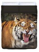 Smiling Tiger Endangered Species Wildlife Rescue Duvet Cover