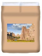Smith Rock And The Crooked River Duvet Cover