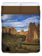 Smith Rock State Park - Oregon Duvet Cover