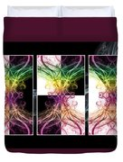 Smoke Art Triptych Duvet Cover