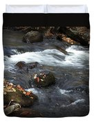 Smokey Mountain Stream In Autumn No.2 Duvet Cover