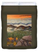 Smokey Mountain Sunset Duvet Cover