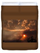 Smoky Clouds Over The Rogue Valley Duvet Cover