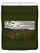Smoky Mountain Autumn View Duvet Cover