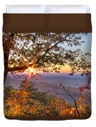 Smoky Mountain High Duvet Cover by Debra and Dave Vanderlaan