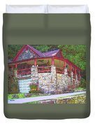 Old Log Cabin - Smoky Mountain Home Duvet Cover
