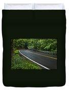 Smoky Mountain Road After Spring Rain E70 Duvet Cover