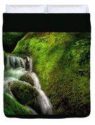 Smoky Mountain Stream And Boulders E223 Duvet Cover