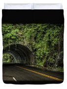 Smoky Mountain Tunnel In The Rain E123 Duvet Cover
