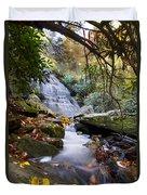 Smoky Mountain Waterfall Duvet Cover