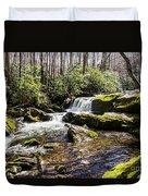 Smoky Mountain Waterfalls Duvet Cover