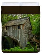 Smoky Mountains Grist Mill Duvet Cover