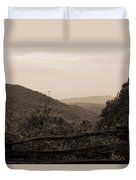 Smoky Mountains Lookout Point Duvet Cover