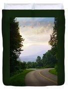 Smoky Mountains Scene Duvet Cover