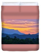 Smoky Mountains Sunrise Duvet Cover