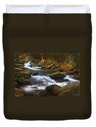 Smoky Mtn Autumn Stream Duvet Cover