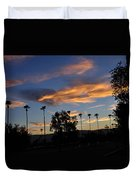 Smoky Sky The Morning After Fire Duvet Cover